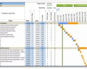 Weekly Residential Construction Schedule with Excel