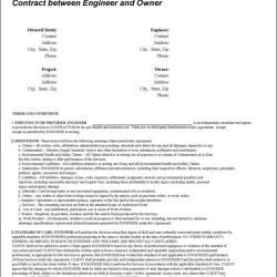 Contract between Engineer and Owner - Doc 109