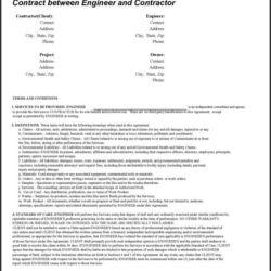Contract between Engineer and Contractor - Doc 108