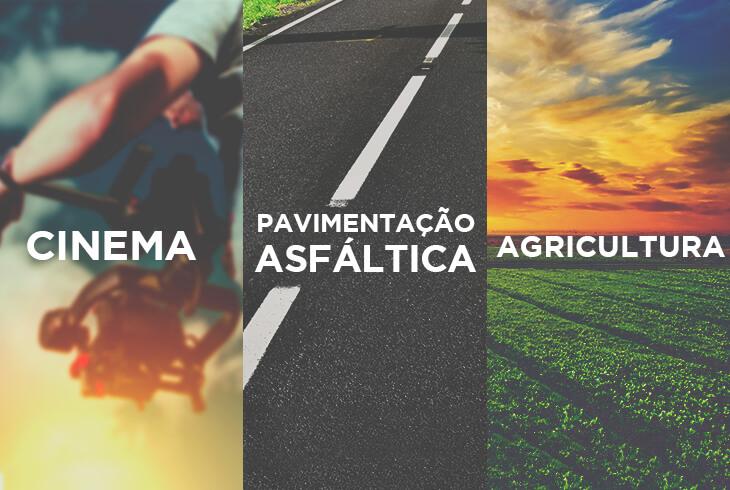 Cinema, pavimentação asfáltica e agricultura!