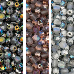 Perline mezzi cristalli