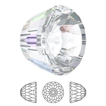 5542 Swarovski Dome Bead Small