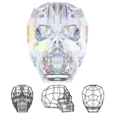 5750 Swarovski Skull Bead