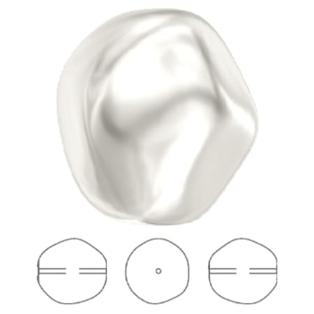 5841 Swarovski Crystal Baroque Round Pearl