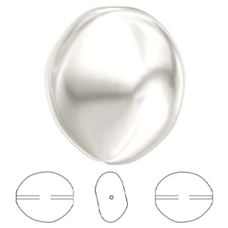 5842 Swarovski Crystal Baroque Coin Pearl