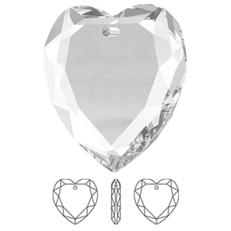 6225 Swarovski Flat Heart