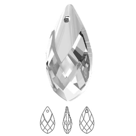 6565 Swarovski Metallic Cap Pear Shaped