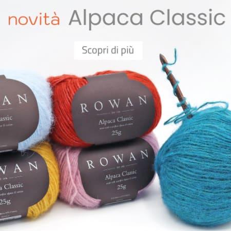 Novità | La linea Alpaca Classic di Rowan unisce il calore e la leggerezza dell'alpaca con la delicatezza e la freschezza del cotone