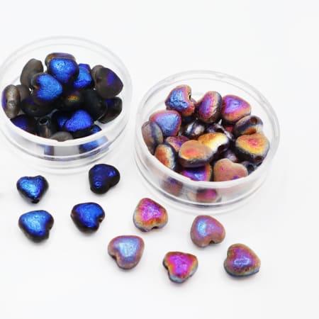 Perline Glass Hearts