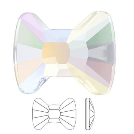 2858 Swarovski Bow Tie Flat Back