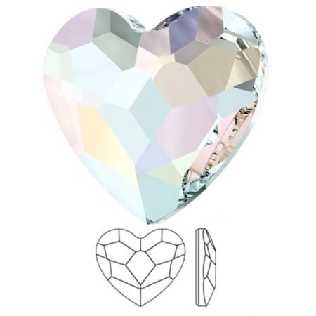 2808 Swarovski Heart Flat Back