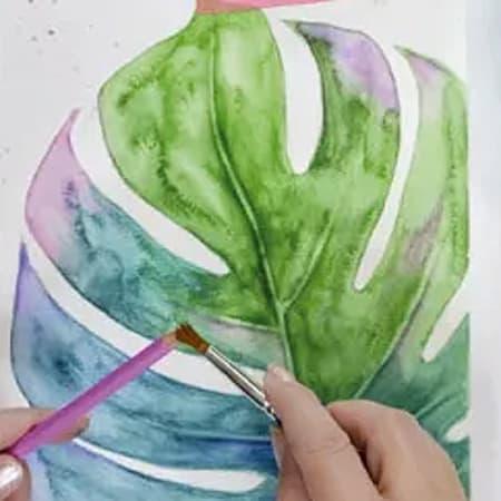Dipinti ad acquerello tropicali