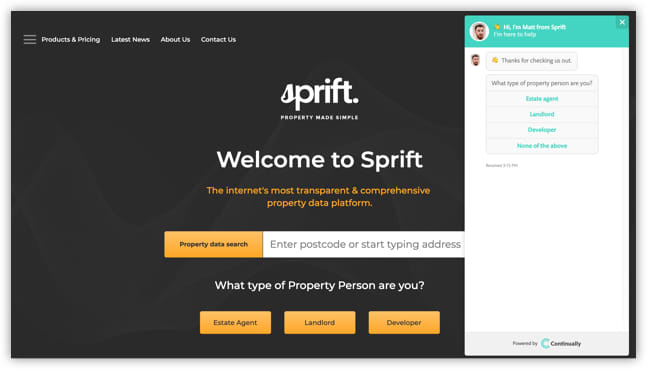 Sprift website and bot