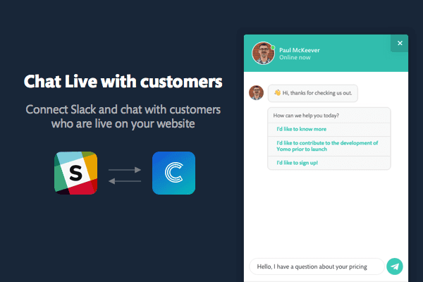 Upcoming feature: chat live with customers