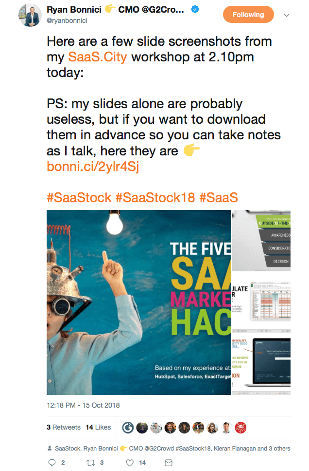 Ryan Bonnici's Saastock workshop slides