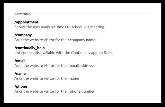 Slack commands