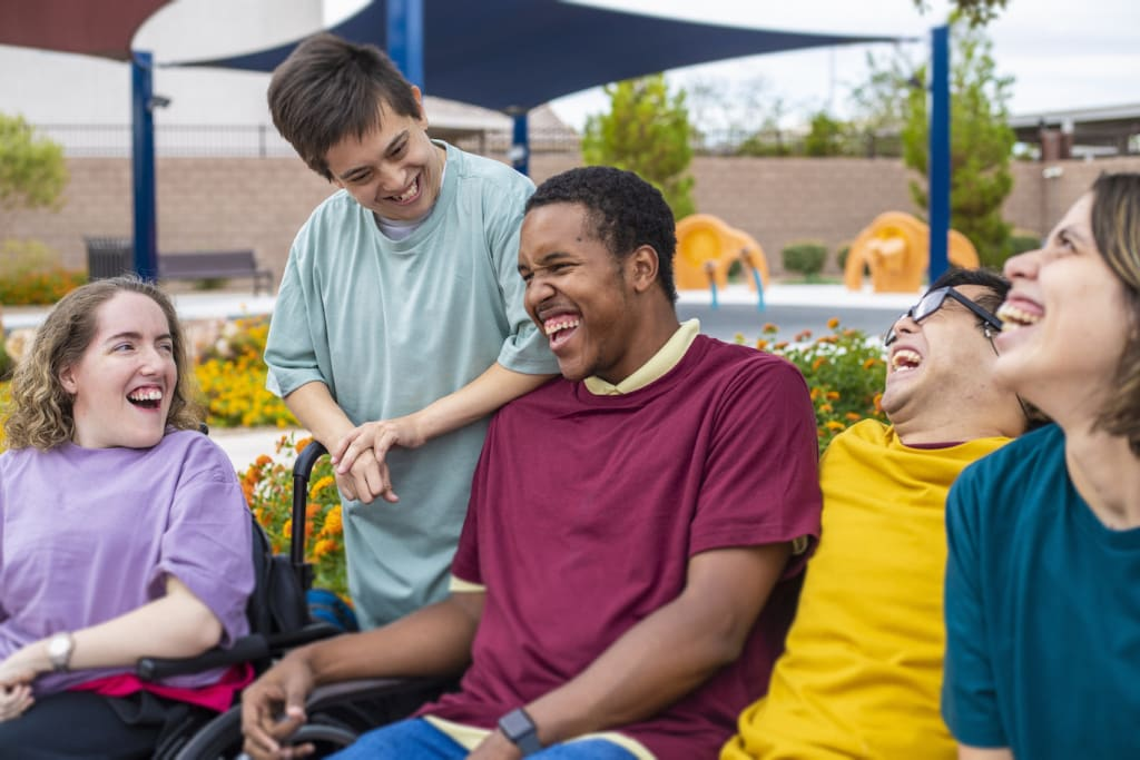 A group of disabled people
