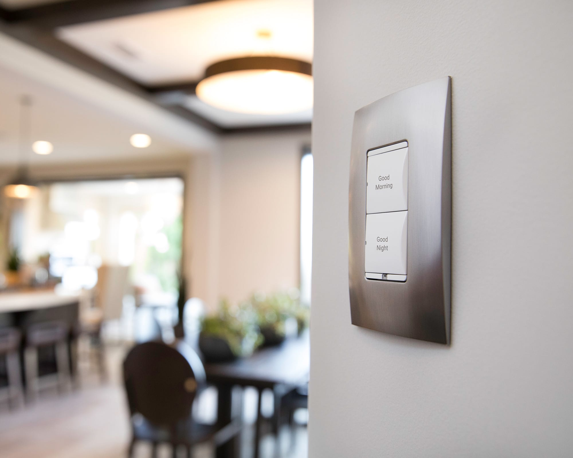 42428235e88 ... Configurable keypad with 'good morning' and 'good night' scene buttons.  Smart Home | Empowering You