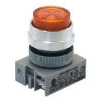 APW199-A-120 IDEC Pilot Light Switch, Amber, 120VAC