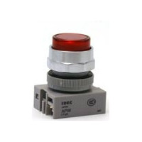 APW199-R-120 IDEC Pilot Light Switch, Red, 120VAC