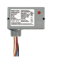 RIB21CDC - Functional Devices Enclosed pilot relay,Class2 Dry Contact input,120-277Vac pwr, 10A SPDT