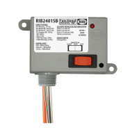 RIB2401SB - Functional Devices Enclosed Relay 20Amp SPST-NO + Override 24Vac/dc/120Vac