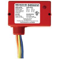 RIB2402D-RD - Relay,10A,Nema4, DPDT 24Vac/Dc/208-277Vac,Red