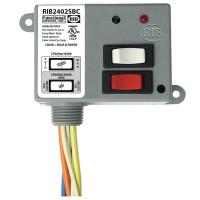 RIB2402SBC - Relay,20Amp,SPDT+Sw, 24Vac/Dc/120Vac