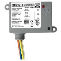 RIB2421B - Encl. Relay 20 Amp SPDT w/24Vac/dc/120-277Vac Coil