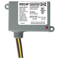 RIB24P - Functional Devices Enclosed Relay 20Amp DPDT 24Vac/dc