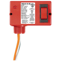 RIB24S-FA-RD - Relay,10Amp, SPST+Sw,24Vac/Dc,Red