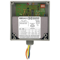 RIBD2421C - Functional Devices Enclosed Time Delay Pilot Relay 10 Amp SPDT with 24 Vac/dc/120-277 Vac Coil