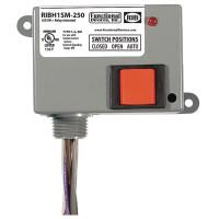 RIBH1SM-250 - Enclosed Relay 10Amp SPST-NO + Override + Monitor 10-30Vac/dc/208-277Vac