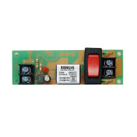 RIBM24S - Functional Devices Panel Relay 4.00x1.25in 15Amp SPST + Override 24Vac/dc