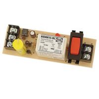 RIBMH1S-NC - Panel Relay, 15 Amp, SPST-NC + Override 10-30Vac/d