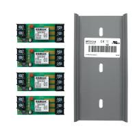 RIBMN24C-4T - Relay,15Amp,4 Pack, Panel Mnt, SPDT, 24Vac/dc