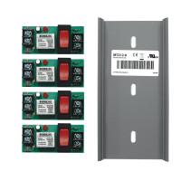 RIBMN24S-4T - Relay,15Amp,4 Pack, Track Mnt, SPST, 24Vac/dc