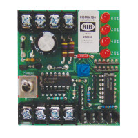 RIBMNA1D0 - Functional Devices Manual Analog Override Switch + Monitor with 24 Vac/dc 2.75 in Track Mount