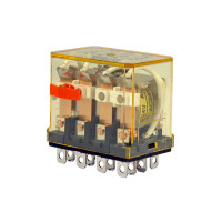 RH4B-ULCAC24V - IDEC Plug-in Relay 4PDT 10A 24VAC Coil with LED & Check Button