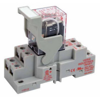 CKIT-VMD2B-F12D - Veris Industries DPDT Relay and Socket Kit, 15A, 12VDC Coil, 20 ms Operating Time