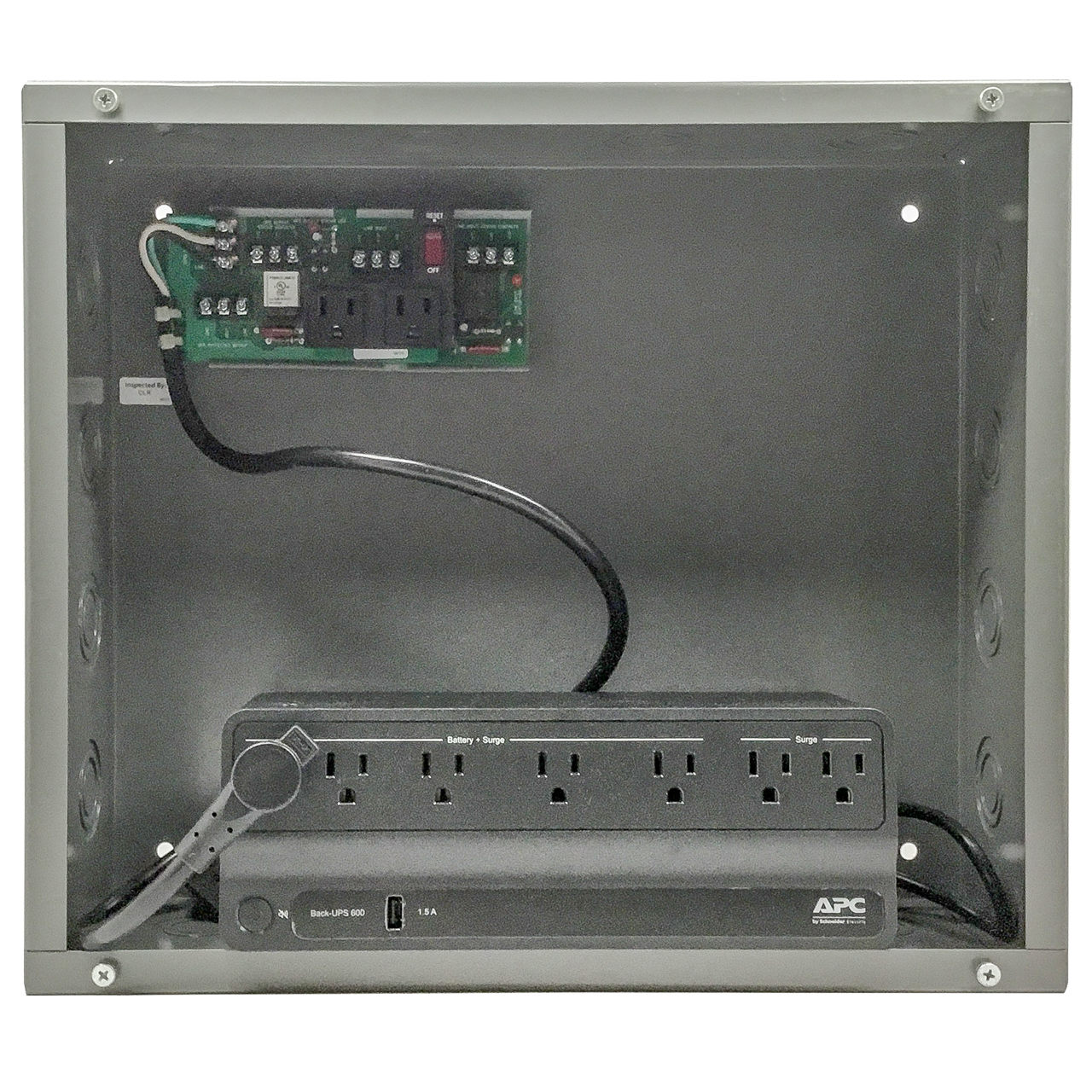PSH600-UPS-STAT - Functional Devices Enclosed 600VA UPS Backup Power Supply  with Status Contacts