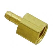 "B-137 - Schneider Electric Compression Adapter, Brass, 1/4"" Barb x 1/4"" Comp"