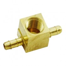 """B-373 - Schneider Electric Branch Tee, Brass, 1/4"""" Left x 1/4"""" Right x 1/8"""" FPT Top"""