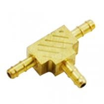 "B-374 - Schneider Electric Barb Tee, Brass, 5/32"" Left x 5/32"" Right x 5/32"" Top"