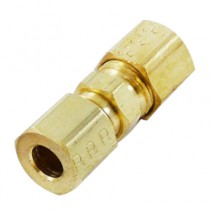 """C-233 - Schneider Electric Compression Union, Brass, 1/4"""" x 1/4"""""""