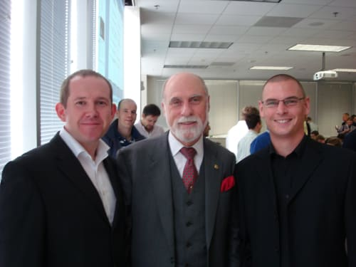Our founders with Vint Cerf, the inventor of the internet.