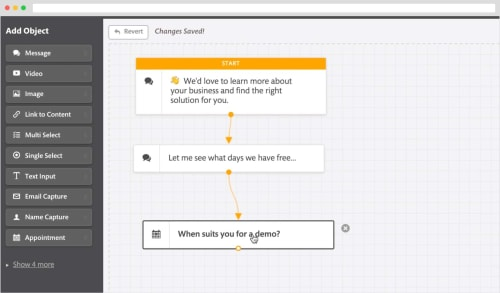 Screenshot of Continually's chatbot builder.