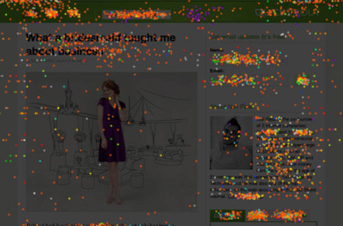 A Crazy Egg confetti map