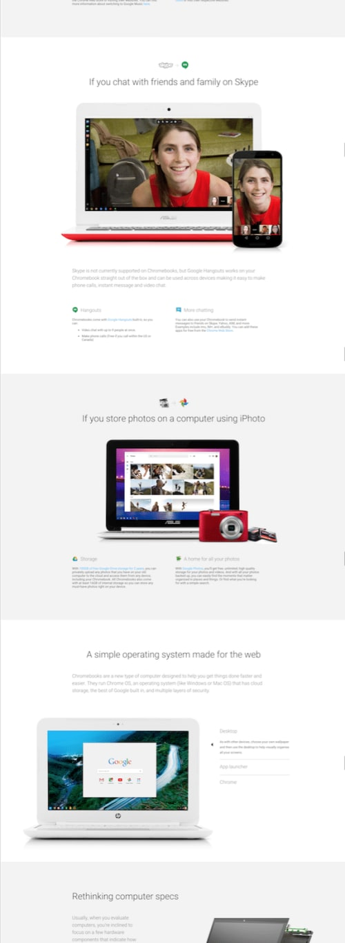 Google Chromebook page.