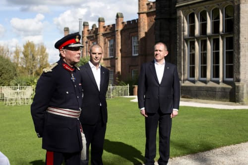 The Queen's Lord Lieutenant with Ben and Karl
